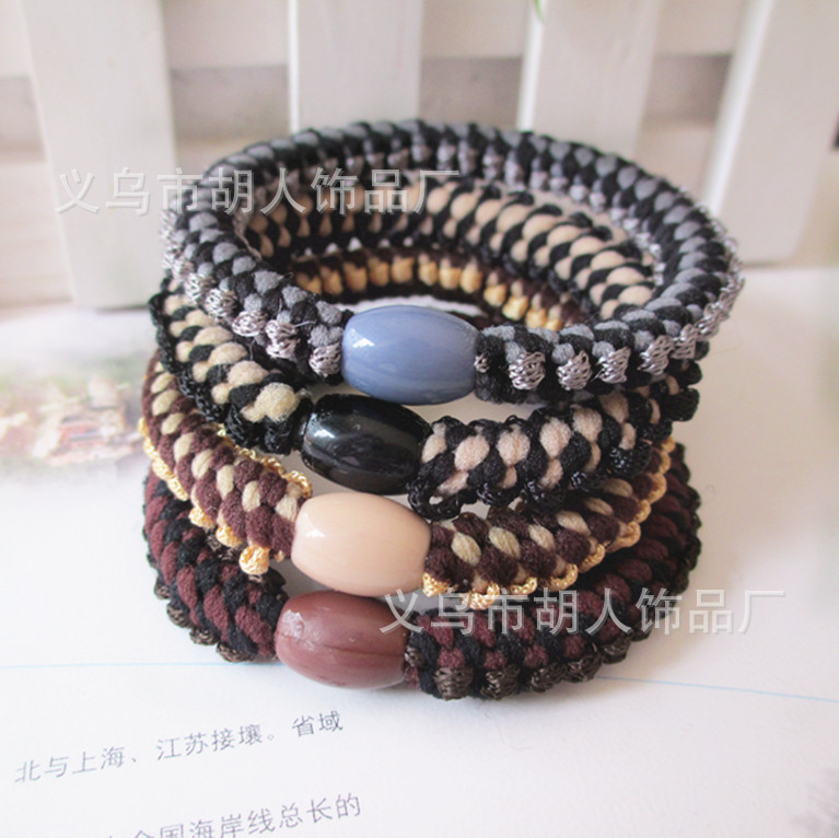 2013 latest Korean pop jewelry bold rubber band hair rope hair ring jewelry factory direct barbarian(China (Mainland))