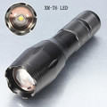 950Lm CREE XM T6 focus adjustable zoomable 3 modes LED flashlight torch light lamp black powered