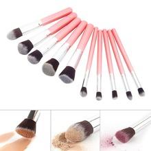 New Beauty 10pcs Woman Makeup Brush for Cosmetic Brushes Kabuki Foundation Powder Eyeshadow Professional Makeup Brush Set