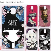 Tele Phone Cases Cover For Samsung Galaxy Note III 3 Note3 Case Newest Unique High Quality Smournful Lady Print Function Shell