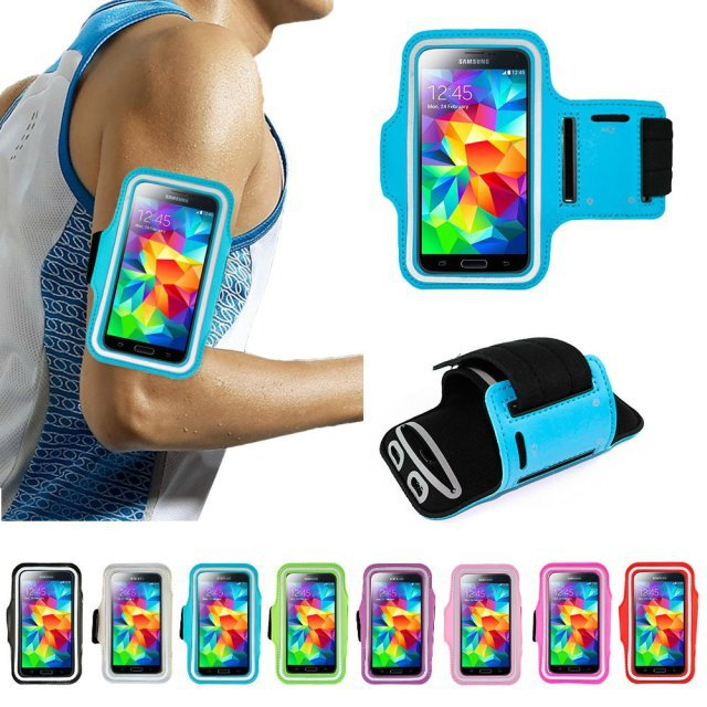 Waterproof Running Sports Arm band Bag Holder Case for iPhone 6 Plus for samsung Galaxy Note 3 Note4 Multi Phone Model Pouch(China (Mainland))