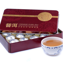Hot Sale Lotus leaf Pu er Ripe Puer Tea Chinese Mini Yunnan Puerh Tea Gift Tin