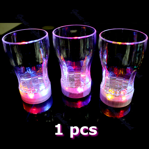 A96 6 LED Light Flashing Decorative Beer Mug Drink Cup For Parties Wedding Clubs S wholesale/retail(China (Mainland))