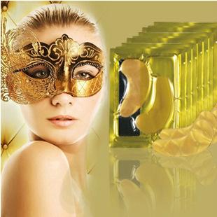 AFY 24 К Золото Eye Mask Золотой Кристалл коллагена маска для глаз анти-Темно Кругом Увлажняющий Антивозрастной гиалуроновой кислоты маска для глаз