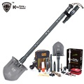 KingKong Multi function Survival Shovel with Flashlight Folding Spade Garden Camping shovel snow Hiking Outdoor Tool