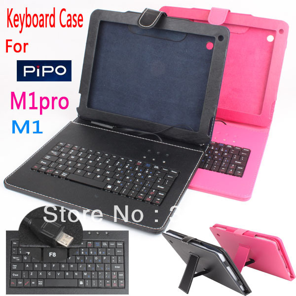 Free Shipping ! ! for PiPo max M1 M1pro Android Tablet PC USB Keyboard Leather Case Cover+Capacitive pen(China (Mainland))