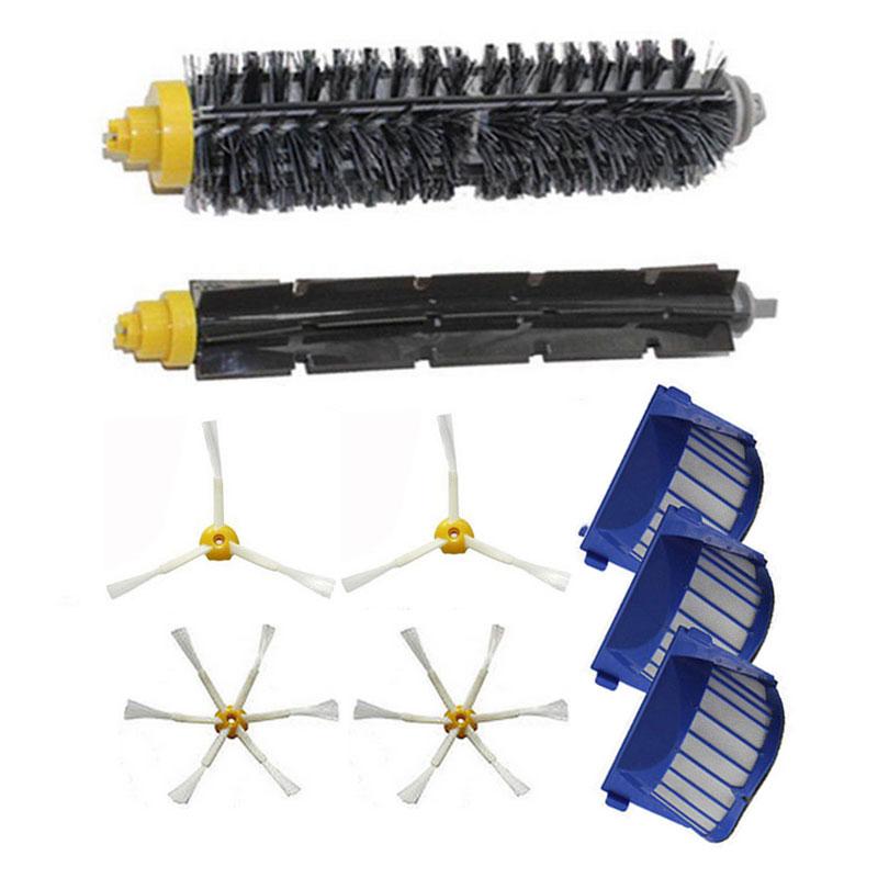 Bristle Brush + Side Brush + Filters For iRobot Roomba 600 Series 620 630 660 650 Vacuum Cleaner Parts(China (Mainland))