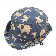 Children Boys gilr Bucket hat Spring Summer boonie hat Caps Cotton Baby Animals sunhats Accessories for 3months-6years old Kids(China (Mainland))