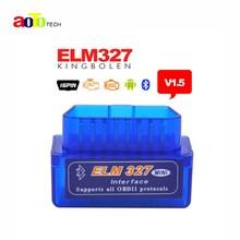 High Quality Super Mini ELM327 Bluetooth V1.5 OBD2 Auto Code Reader Mini 327 Car diagnostic interface ELM 327 Bluetooth