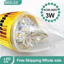 Buy 50pcs/lot Free DHL Fedex Wholesale LED Candle bulb lamp Aluminum E14 3W/4W Cold white/Warm white homelighting AC85-265V ) for $125.10 in AliExpress store