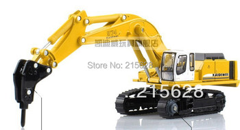 High quality 1:87 mini diecasts alloy crusher engineering cars vehicle model excavator toy truck cat+retail box