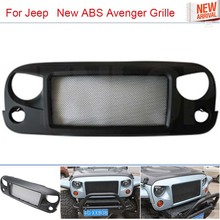 Car-Styling New Black ABS Avenger Grille With Bug Screen For Offroad Wrangler 2007-2015(China (Mainland))