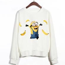 H102 2015 Casual Autumn Banana Minion Print 3d Cartoon design Women Pullovers Sweatshirts(China (Mainland))