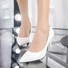 Plus Size 24-42 Women Shoes Pointed Toe Pumps Patent Leather Dress Shoes High Heels Boat Shoes Wedding shoes zapatos mujer 146(China (Mainland))
