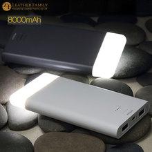 Оригинал Rock LED power bank 8000 мАч для iphone смартфон универсальное зарядное устройство портативное зарядное внешняя Батарея противопожарные покрытия(China (Mainland))