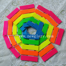5 color Cute   100 Pages plastic  Sticker Post It Bookmark Point It Marker Memo Flags Sticky Notes
