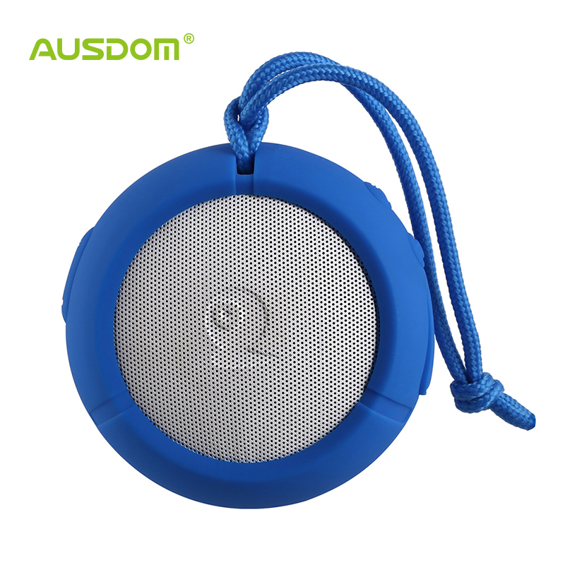 Ausdom AS2 Outdoor Portable and Bluetooth Speaker Water Resistant Shockproof Dustproof with Mic for Iphone/Android - Blue(China (Mainland))
