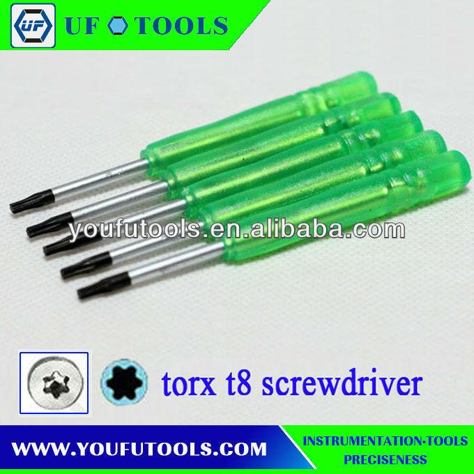 UF301G Torx T8 Screwdriver.Torx T8 /T3/T4/T5/T6/T7/T10 PH000/PH00 Security Screwdriver(China (Mainland))