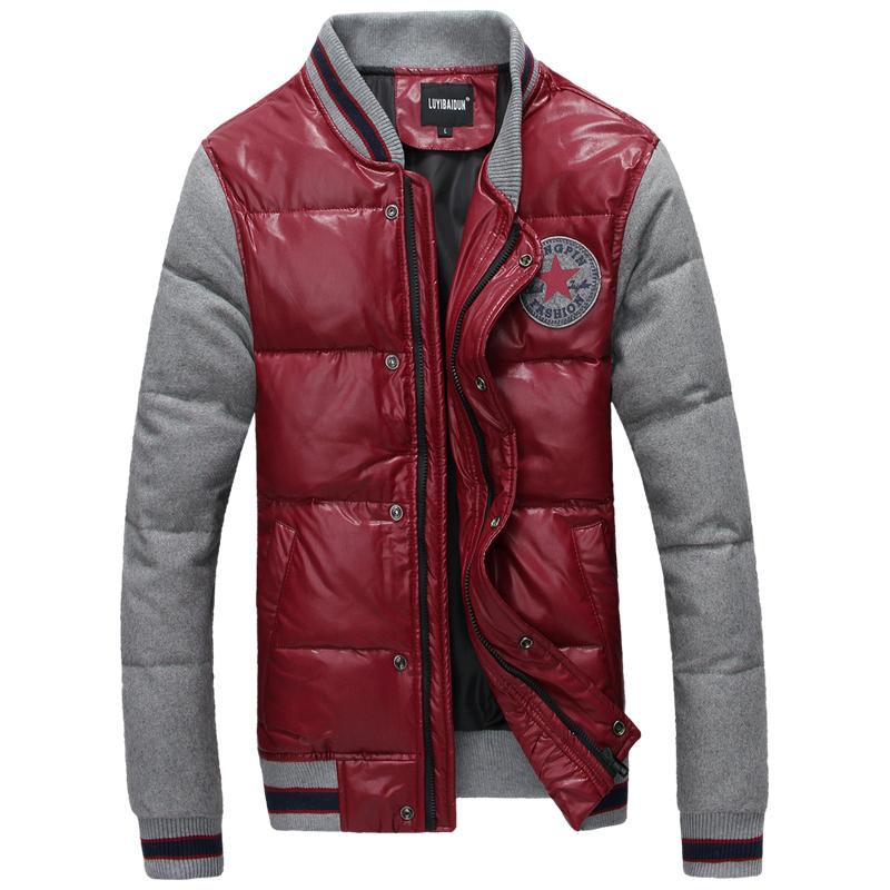 Free shipping 2014 winter new men's short down jacket , men's fashion casual jacket coat large size S-4XL