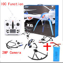 Free Shipping! JJRC H16 Tarantula X6 drone 4CH RC Quadcopter Wide-Angle 2MP Camera IOC+1Battery