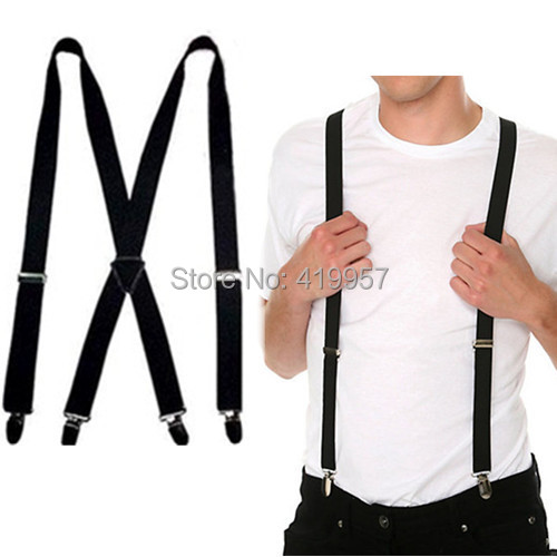 BD002-- 2014 New fashion Men's suspenders 2.5cm width 4 clips 26 colors women's braces - Sister7983(Min Order $5 store)