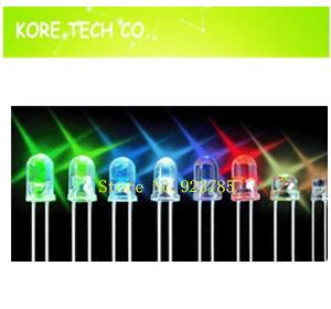 100 Transparent Round LED 5MM Yellow light emitting diode F5mm 7000MCD Long Leg Y - Kore Tech co. Ltd. store