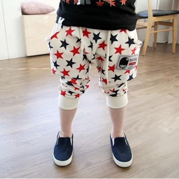2016 New Fashion Summer Cool Toddler Girls Stars Pattern Harem Pants Trousers Collapse Pants Bottoms(China (Mainland))