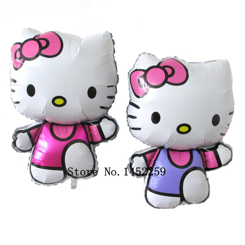 Free shipping 1pcs of new vest kt cartoon cat aluminum balloons party balloons wholesale high quality children's toys(China (Mainland))