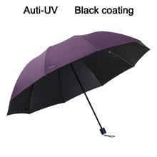 Merek Anti UV Payung Besar Hujan Lipat Wanita Windproof Matahari Besar Pria Hi-Q Corporation Payung Perempuan Parasol Paraguas cina(China)