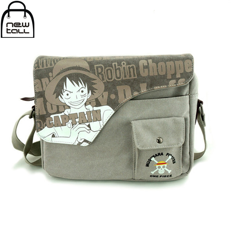 [NEWTALL] 2017 New Fasion Black ministers One Piece Totoro One piece Luffy Naruto Conan Ghoul Single Shoulder Bag ZB0018(China (Mainland))