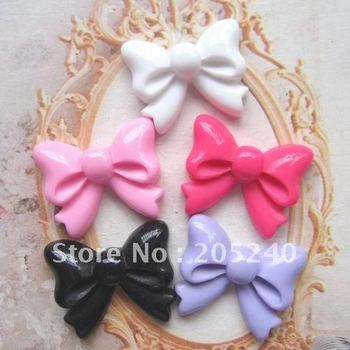 flat back resin bow  20pcs mixed 5colors (you can choose the color you like or we will ship each color equally)