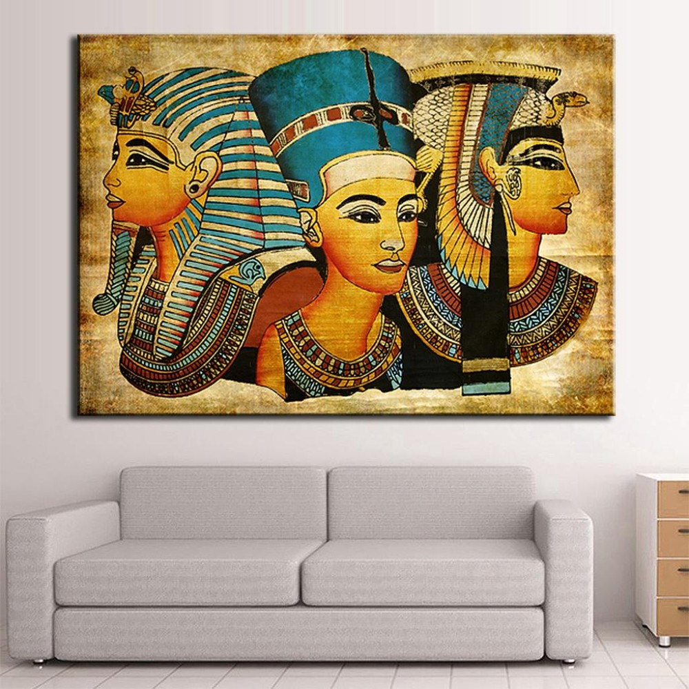 New Arrival Pharaoh Of Egypt Unframed Home Decoration Paintings Modern Abstract Wall Painting,Free Shipping