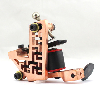 Professional Handmade Tattoo Machine 10-Wrap Coils Iron Cast Frame Custom Tattoo Gun For Liner Shader Free Shipping(China (Mainland))