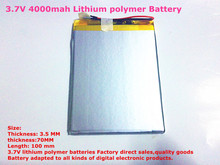 Buy best battery brand Size 3570100 3.7V 4000mah Lithium polymer Battery Board 7 inch Tablet PC Ainol Aurora for $7.09 in AliExpress store