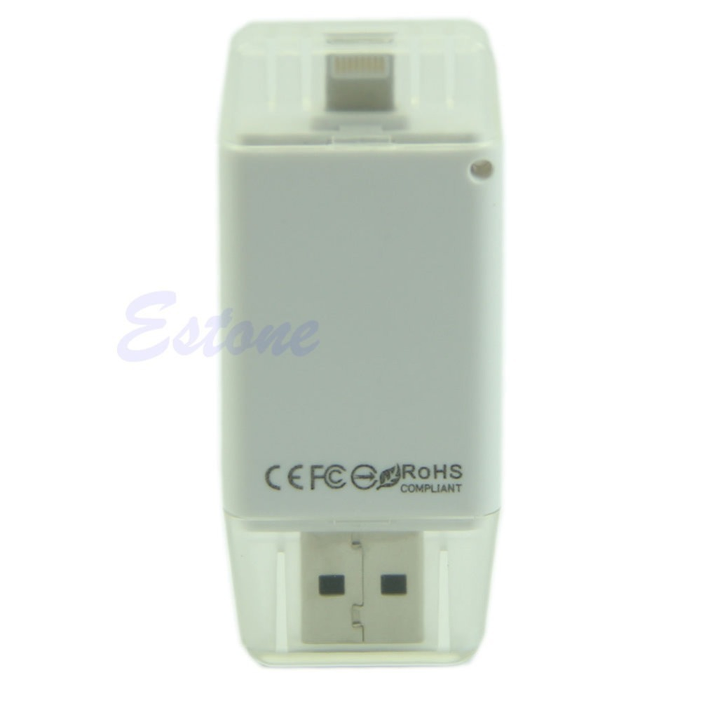 Free shipping USB i-Flash Drive HD Micro SD Memory Card Reader Adapter For iPhone 5 5S 6 For  iPad-J117(China (Mainland))
