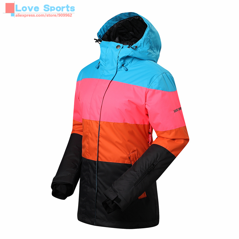 Newest High Quality Winter Gsou Snow Women Skiwear Veneer Snowboard Ski Jackets Snowboarding Clothing Skiing Jacket(China (Mainland))