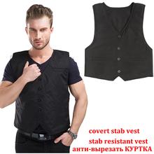 New 4 story stab resistant vest Lightweight soft for police use v-neck covert schutzweste tatico self-defense anti cut stab vest