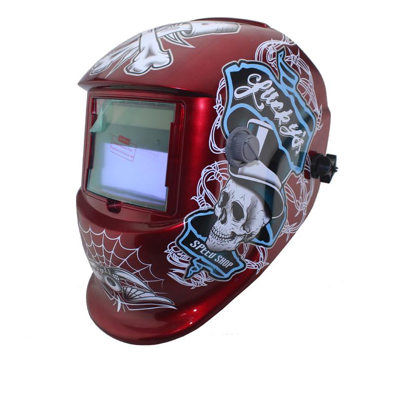 Red Pirates PRO DIN9-DIN13 Solar Auto darkening welding helmets/Electric welder face mask/caps for TIG MIG MMA stick welder(China (Mainland))