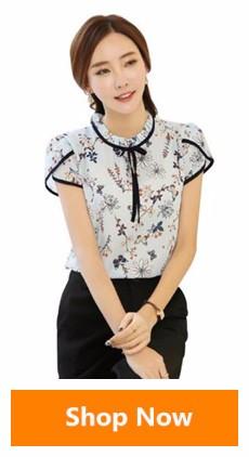 HTB1lwUzSXXXXXcFXXXXq6xXFXXXA - Floral Print Chiffon Blouse Collar Short Sleeve Women