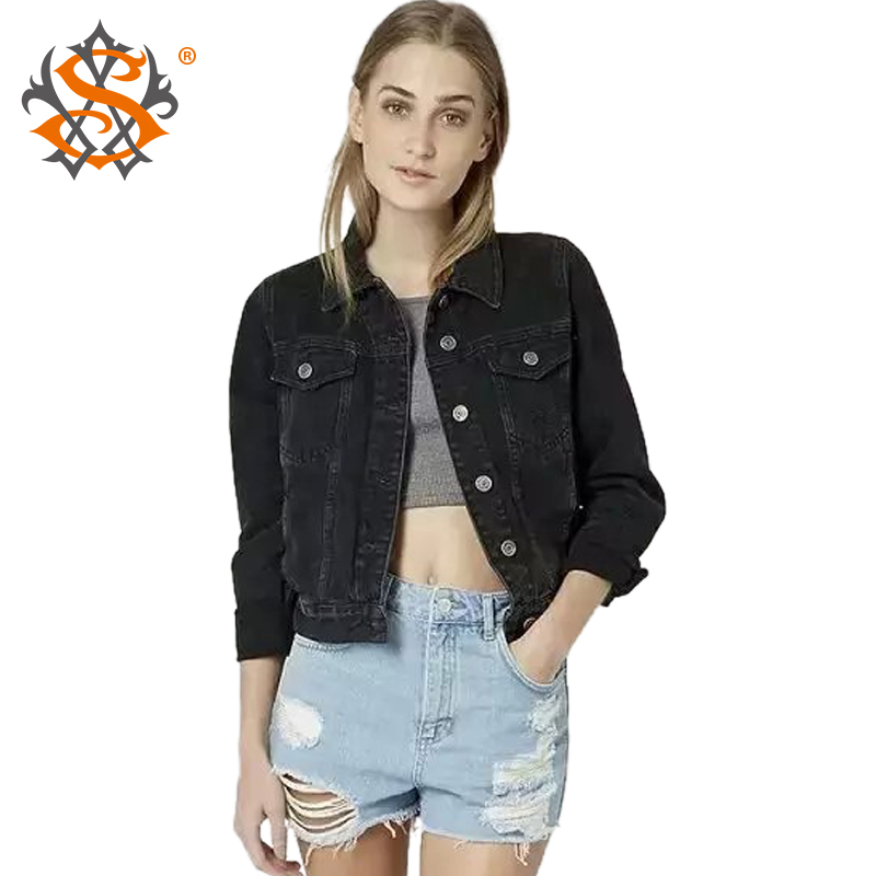 Black Womens Denim Jacket | Outdoor Jacket