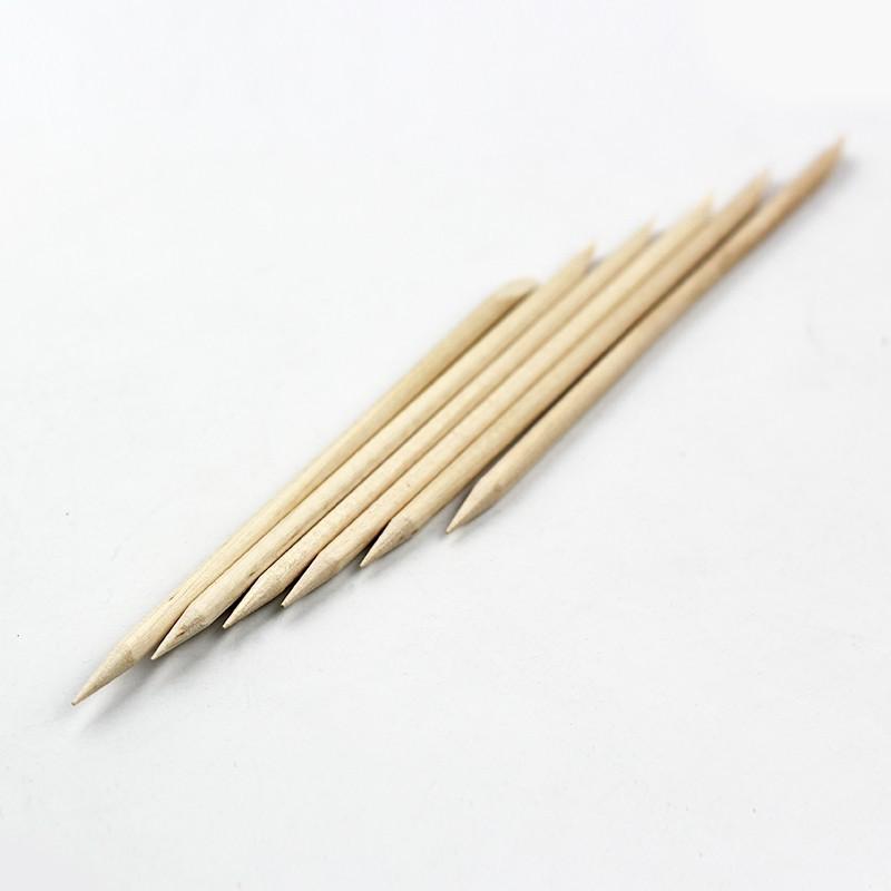 1PCS Nail Art Orange Wood Stick Cuticle Pusher Remover For