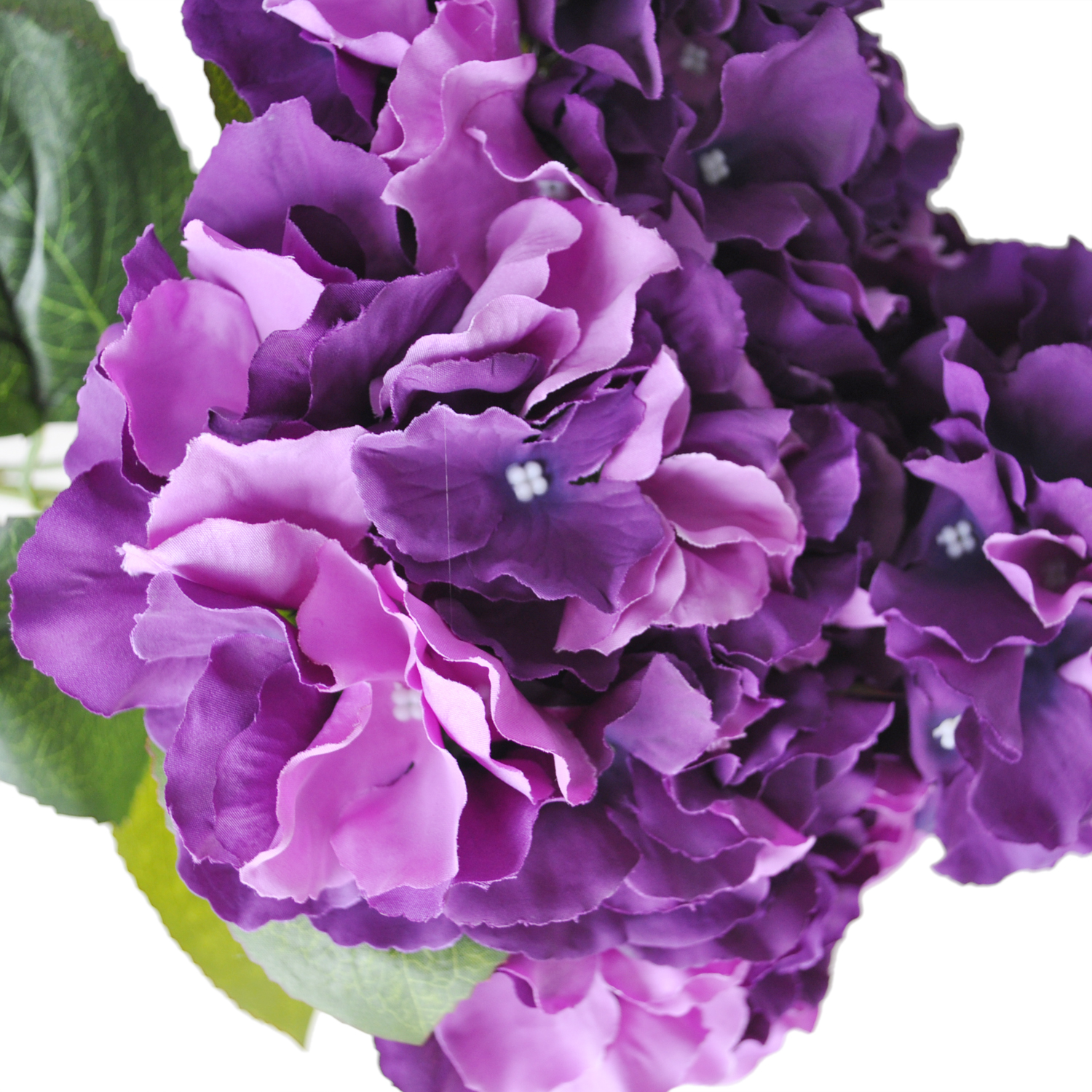 "Artificial Hydrangea Flower 5 Big Heads Bouquet (Diameter 7"" each head) Purple(China (Mainland))"