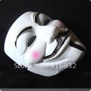 M7 5pcs/lot free shipping frightening Halloween Mask V vendetta team mask