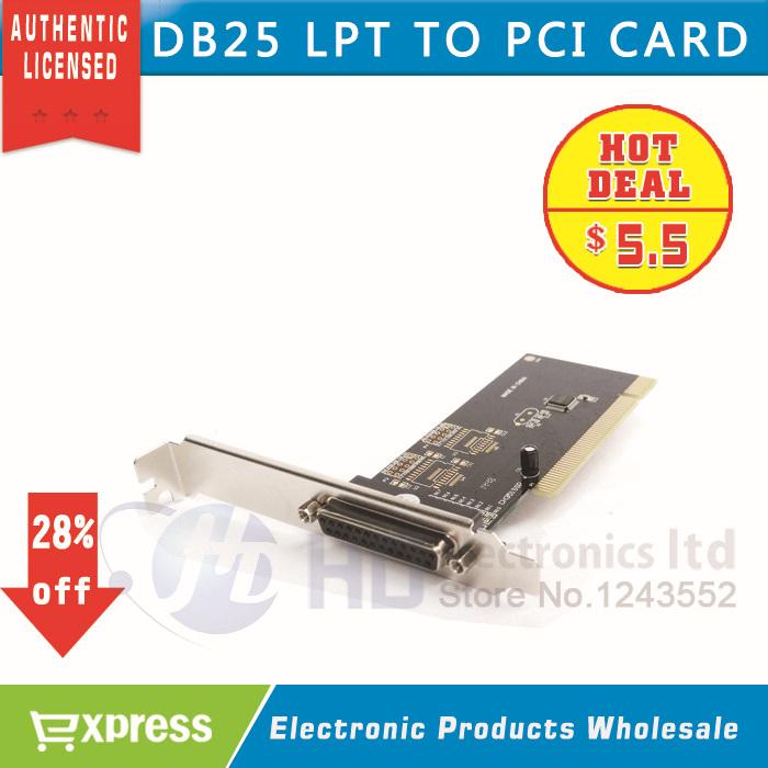 1Port I/O 25pin Parallel LPT Card PCI Expansion Card Adapter PCI to Parallel 25pin DB25 Printer Port Controller Card 1pcs/lot(China (Mainland))