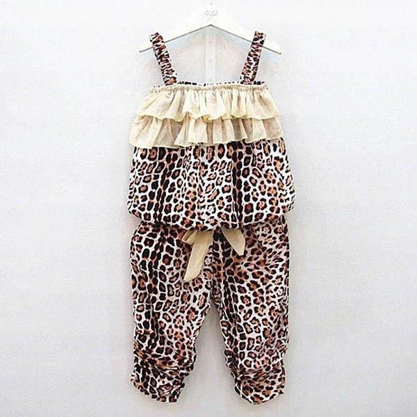 Kids Baby Girls Children Leopard Vest + Pants Clothes Suits Outfits Sets 2 Pcs SM73<br><br>Aliexpress