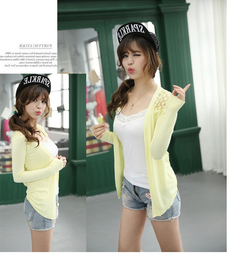 2019 Wholesale Dropshipping Candy Color Women Cardigan Sweaters New ... 1e2aa1102