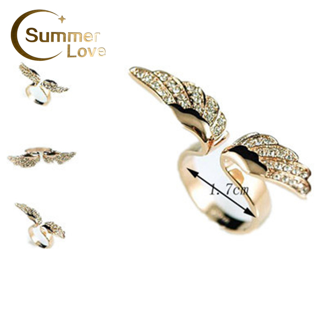 New Arrival Items  Hot Sales Angel Wing Jewelry Rings Wholesale Designer Jewelry Lovely For Women
