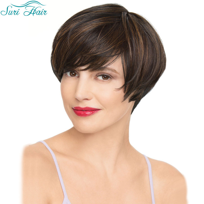 HOT SALE High Quality Women's Cool Pixie Cut Wig Synthetic Short Straight blond Wigs Heat resistant fiber Wig for black Women(China (Mainland))