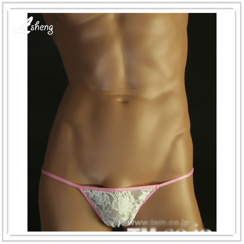Lace Lace Thong - Real Men Aren't Afraid to Wear Lace! Male Power's famous Bong Thong for Men. The classic bong thong in a sexy stretch lace. Male Power # color choices are Black or White.