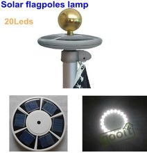 High brightness 20 LED Solar Powered flag pole light solar outdoor Garden Umbrella Landscape LED spot light(China (Mainland))